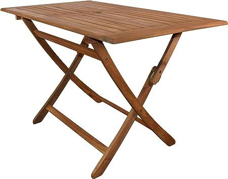 SAM Gartentisch Callao, Tisch 120x70 cm, Akazien Holz, rechteckiger Balkontisch, massiv