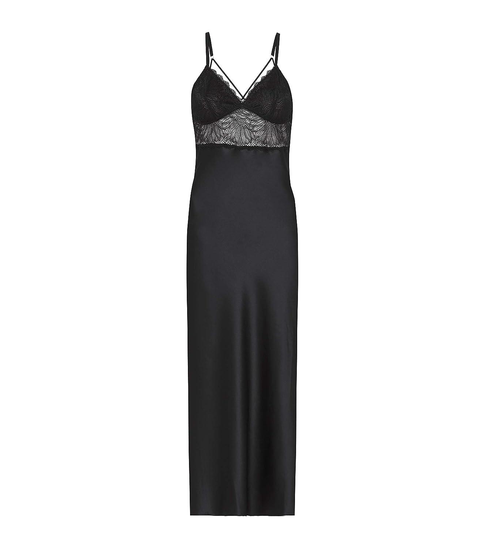 Heidi Klum Intimates Lace Chemise Sleepwear  Ladies Sexy Lingerie Slip On  Black, Small