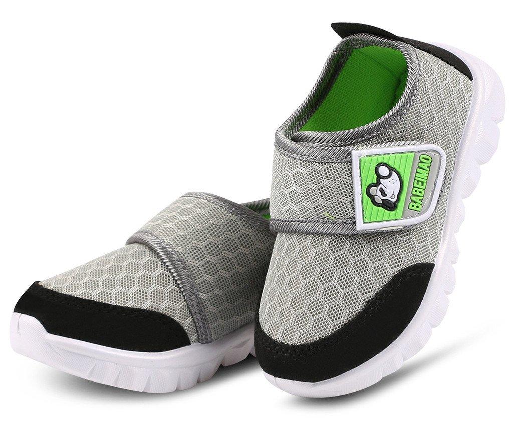 DADAWEN Baby's Boy's Girl's Mesh Light Weight Sneakers Running Shoe Gray US Size 4 M Toddler by DADAWEN (Image #4)