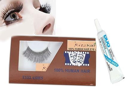7497c5dbc88 RITZKART 100% human hair eyes Lashes Long Thick & soft hair for Natural  look Makeup
