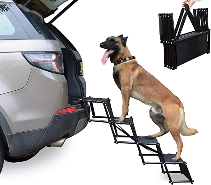 Heeyoo Upgraded Nonslip Car Dog Steps - The Most Durable Dog Ramp