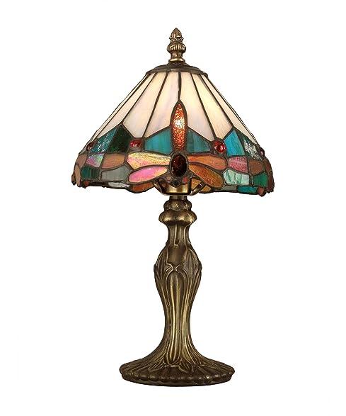 Dale Tiffany TA10606 Tiffany Jewel Dragonfly Accent Lamp, Antique ...