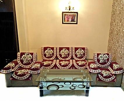 Fantastic Shc Modern 12 Piece Cotton Sofa Slipcover Set Maroon Pabps2019 Chair Design Images Pabps2019Com