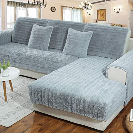 D&LE Felpa Funda de sofá, Color sólido Slip Acolchados Funda ...