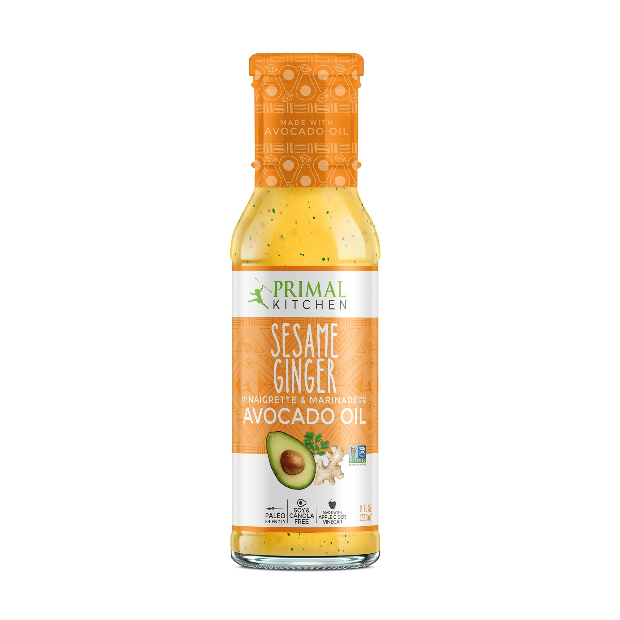 Primal Kitchen - Avocado Oil-Based Dressing and Marinade, Sesame Ginger Vinaigrette, 8 oz, Whole30 and Paleo Approved
