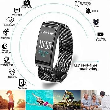 Parnerme Montre Connectée Étanche IP68Sport, Bracelet Connectée Natation Écran Couleur Bluetooth Fitness Tracker d