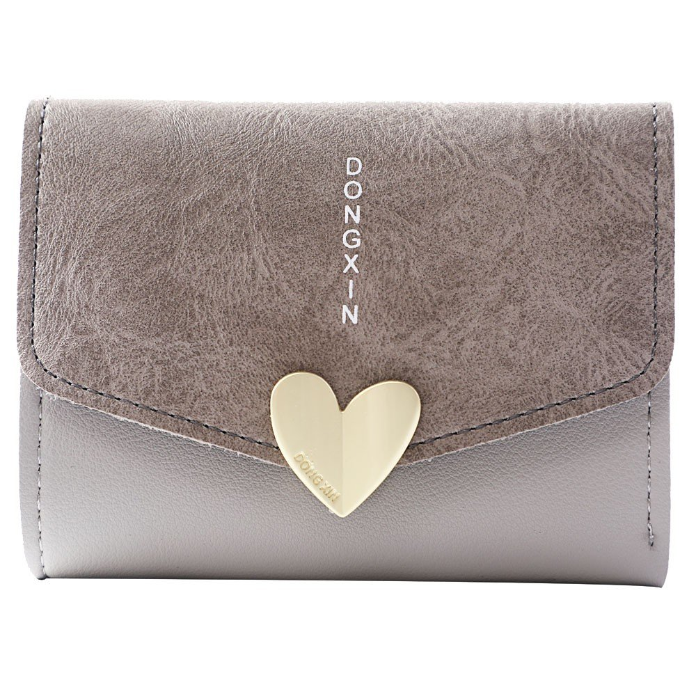 Amazon.com: Cartera de piel con forma de corazón para mujer ...