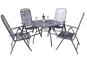Juego de Comedor de jardín Oxford de 4 plazas, 4 sillas ...