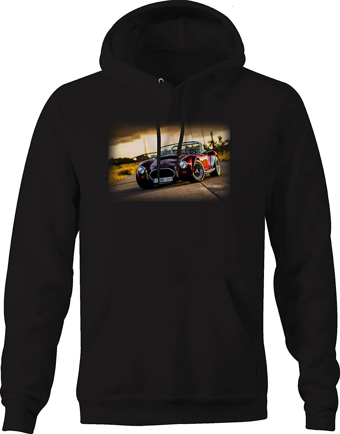 Bold Imprints Convertible Roadster Coupe Shelby Racing European Graphic Hoodie for Men