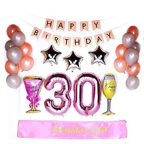 30 cumpleaños decoraciones - cumpleaños niña Sash 40
