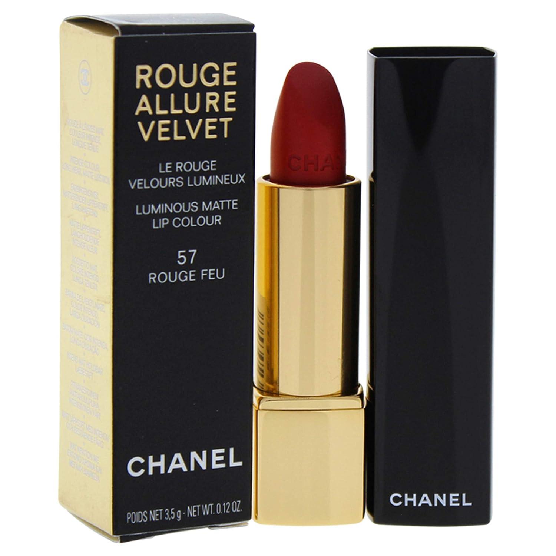 Chanel Rouge Allure Velvet Luminous Matte Lip Colour, 57 Rouge Feu, 0.12 Ounce