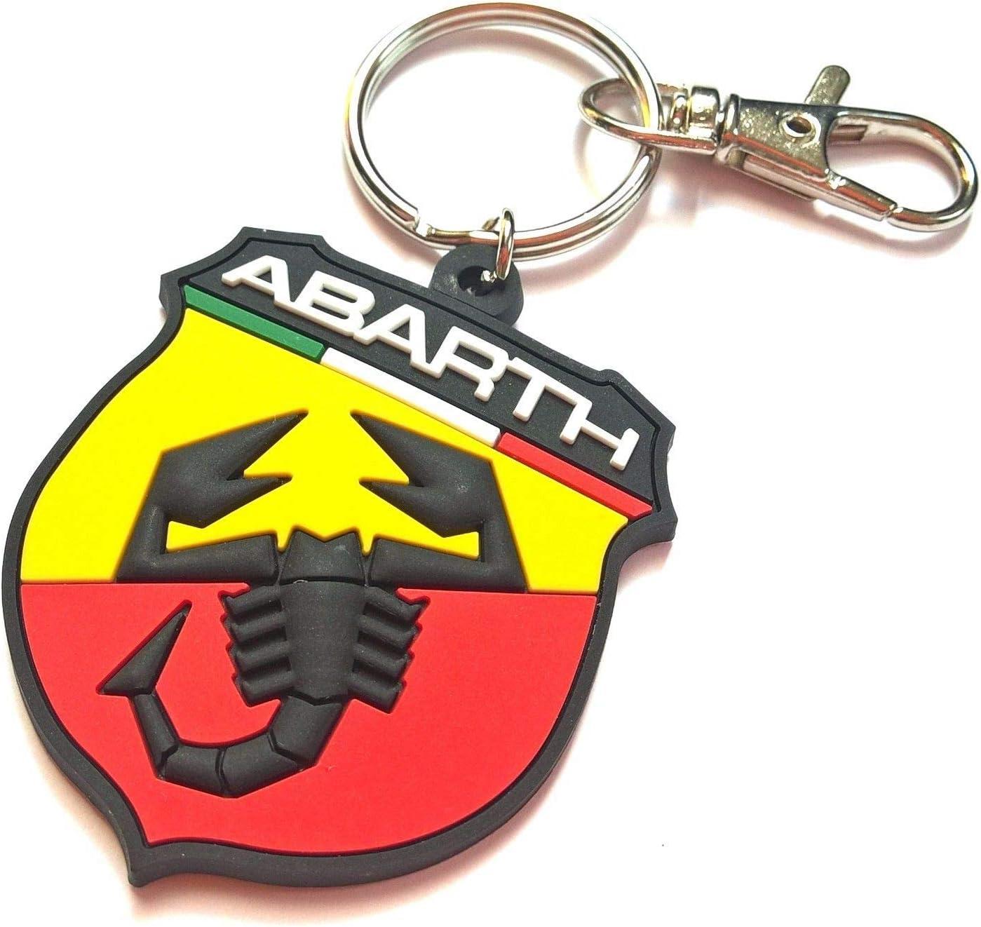 Freeco Fiat Abarth Schlüsselanhänger Aus Gummi 500 595 Zubehör Auto