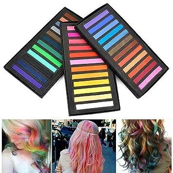 36 coloration teinture cheveux craie crayon coiffure non toxique temporair - Coloration Cheveux Craie