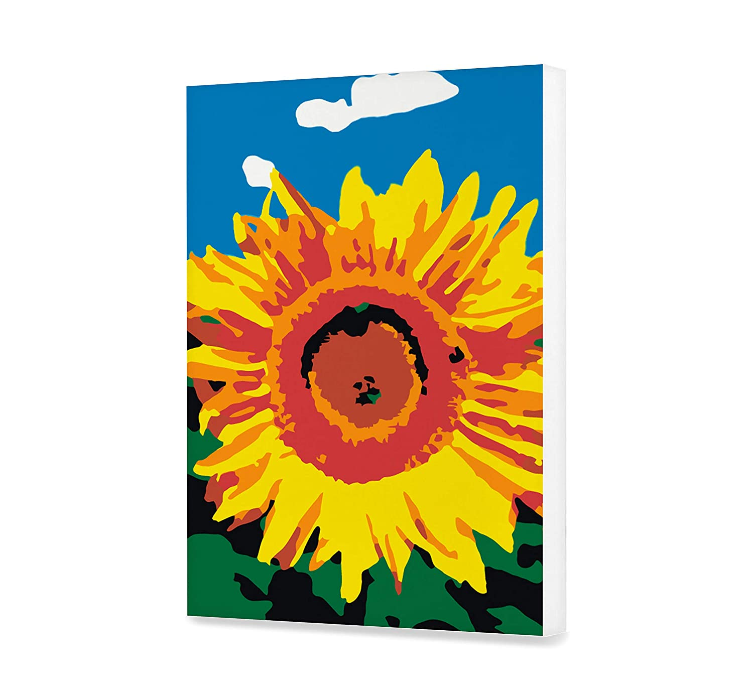 Sunflower HandMade DIY Floral Painting by Numbers Set for Painting Canvas With Frame Unique Design Flower Picture Gift for Adult