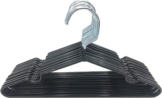 platzsparend Kabudar Kinder-Kleiderb/ügel aus Metall mit Gummibeschichtung sehr d/ünn Schwarz 30 cm breit rutschfest 20 St/ück