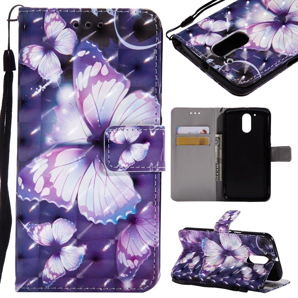 For Cell Phones Case, Moto G4 / G4 Plus case,3D Glitter Painted Design PU Leather Folio Flip Case Wallet Stand Cover for Motorola Moto G4 / Moto G4 Plus ( PATTERN : 2 ) JDDRUS