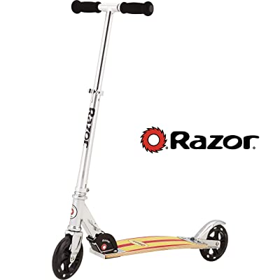 Razor Cruiser Scooter - Yellow/Red Wood Deck : Sports & Outdoors