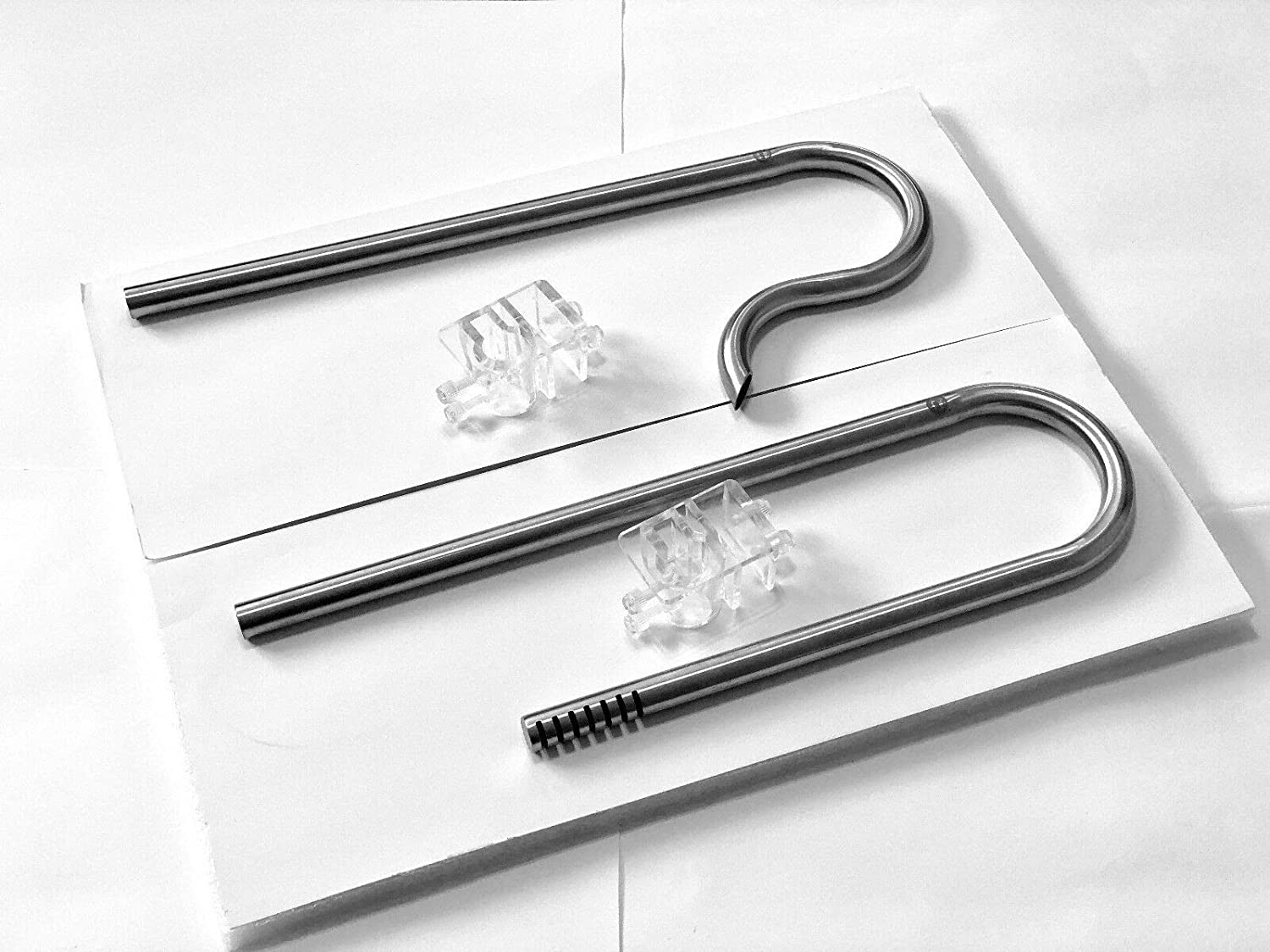 12//16mm Tube 13mm Set JungleAquashrimp Stainless Steel Pipes Inflow Outflow Pipes for Aquarium Filters Planted Fish Tank