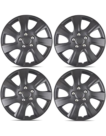 BDK Matte Black Hubcaps Wheel Covers for Toyota Camry 2006-2014 (16 inch)