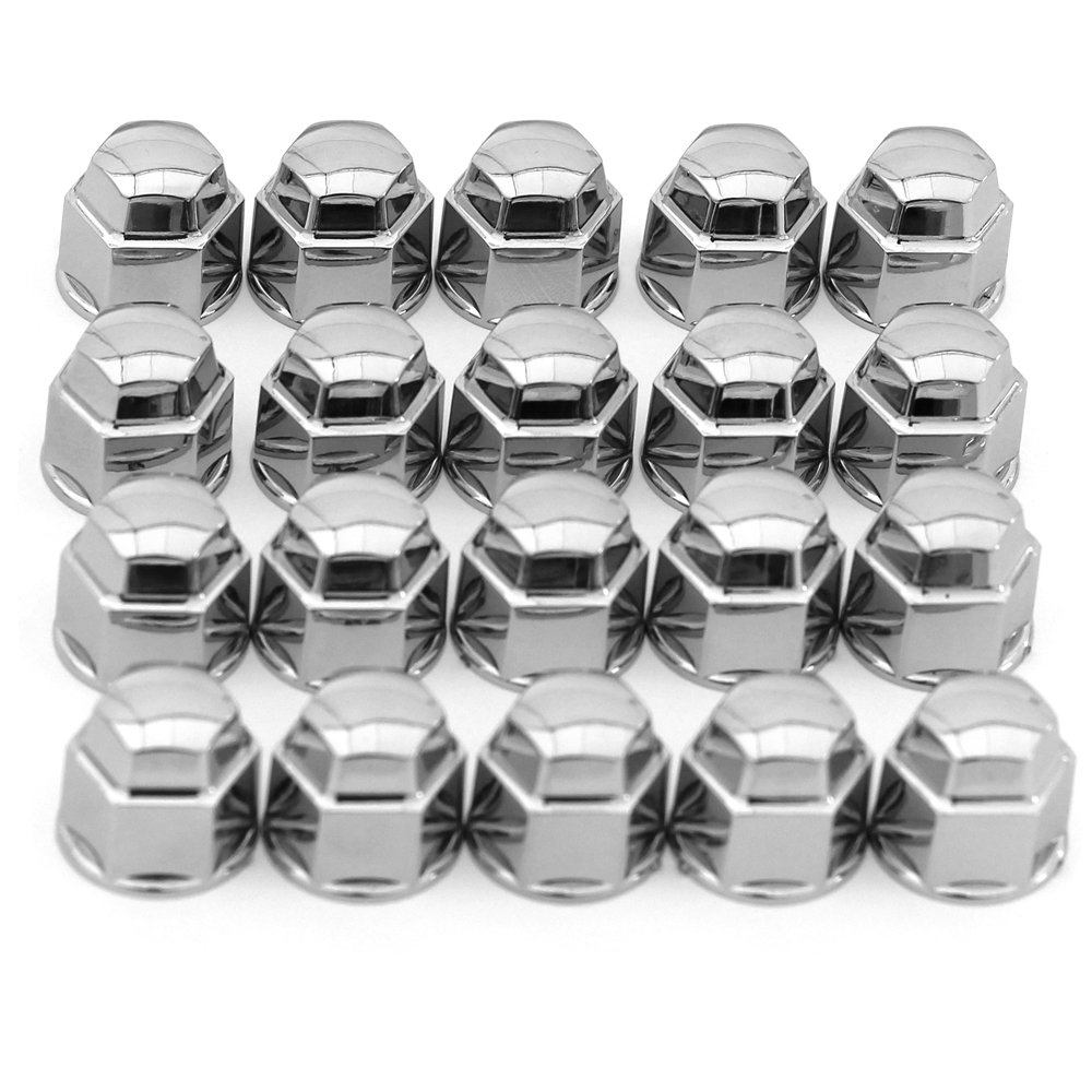 OxGord 19 mm Chrome Lug Nut Cover