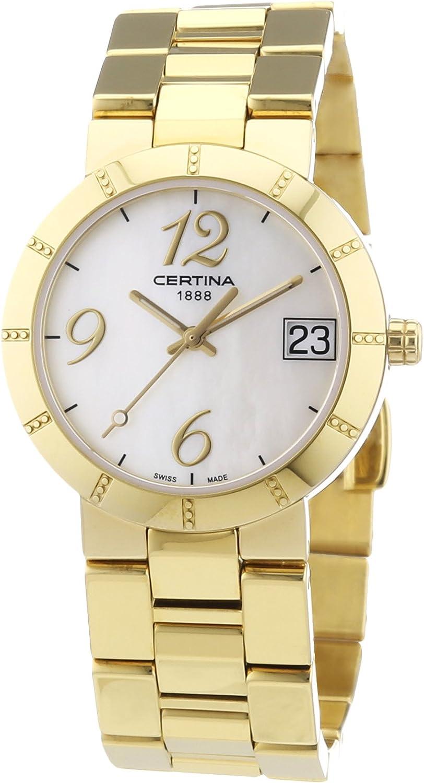 Certina C009.210.33.112.00 - Reloj de Pulsera Mujer, Acero Inoxidable, Color Dorado