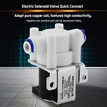 Akozon 1pc DC 12V Water Electric Solenoid Magnetic Purifier Valve Quick Connect Normally Close