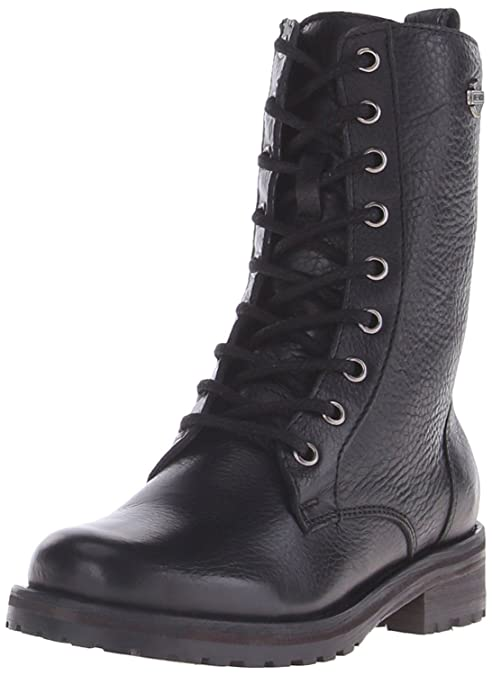 Harley Davidson Kenova Mujer Negro Cuero Lace Up Boot Biker Combat Boots 41: Amazon.es: Zapatos y complementos