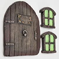 Deals on Bits and Pieces Miniature Fairy Garden Glow in The  Sleeping Door