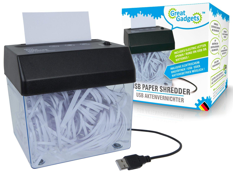 GreatGadgets 3065 USB Aktenvernichter Splash Brands