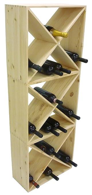 Mobile porta bottiglie vino cantinetta componibile in legno per ...