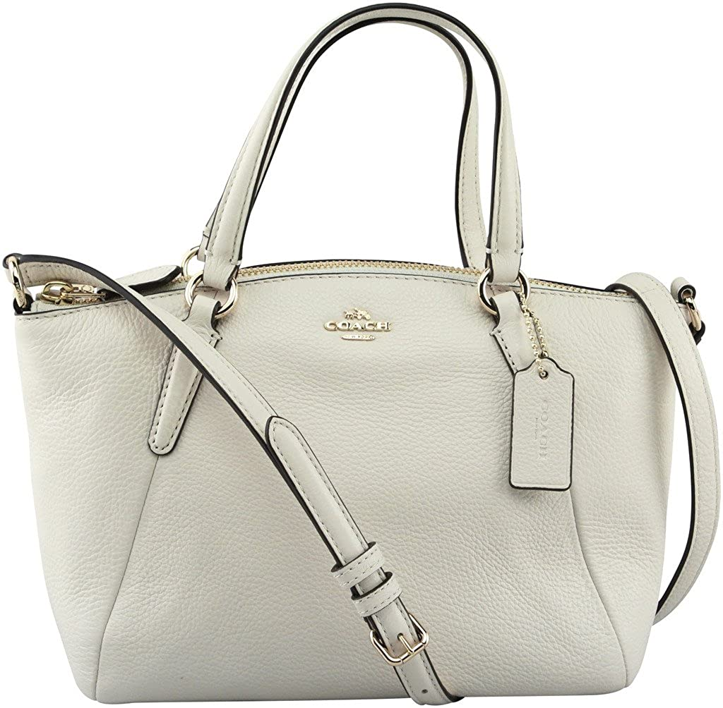 006c930baf81 Amazon.com  Coach Mini Kelsey Pebble Leather Crossbody Bag (Chalk  White Gold)  Shoes