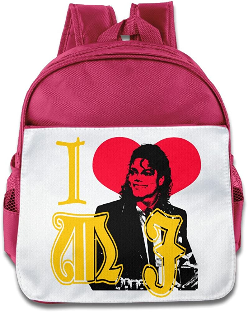 Discovery Wild Little Kid Backpack Bag, I Love Michael Jackson - Pink
