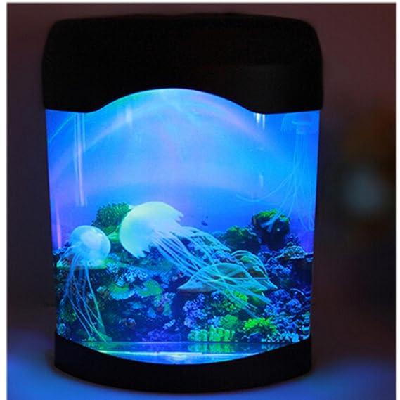 Multi color cambiante luz llevó artificial medusas acuario iluminación pecera noche lámpara de luz: Amazon.es: Jardín