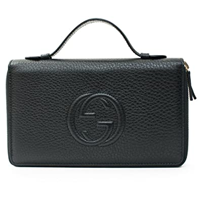 e7942473d70 Amazon.com  Gucci Black Travel Double zip Around Wallet Leather top ...
