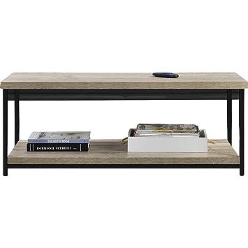 Amazon.com: Mercury Row Coffee Table with Storage - Wooden ...