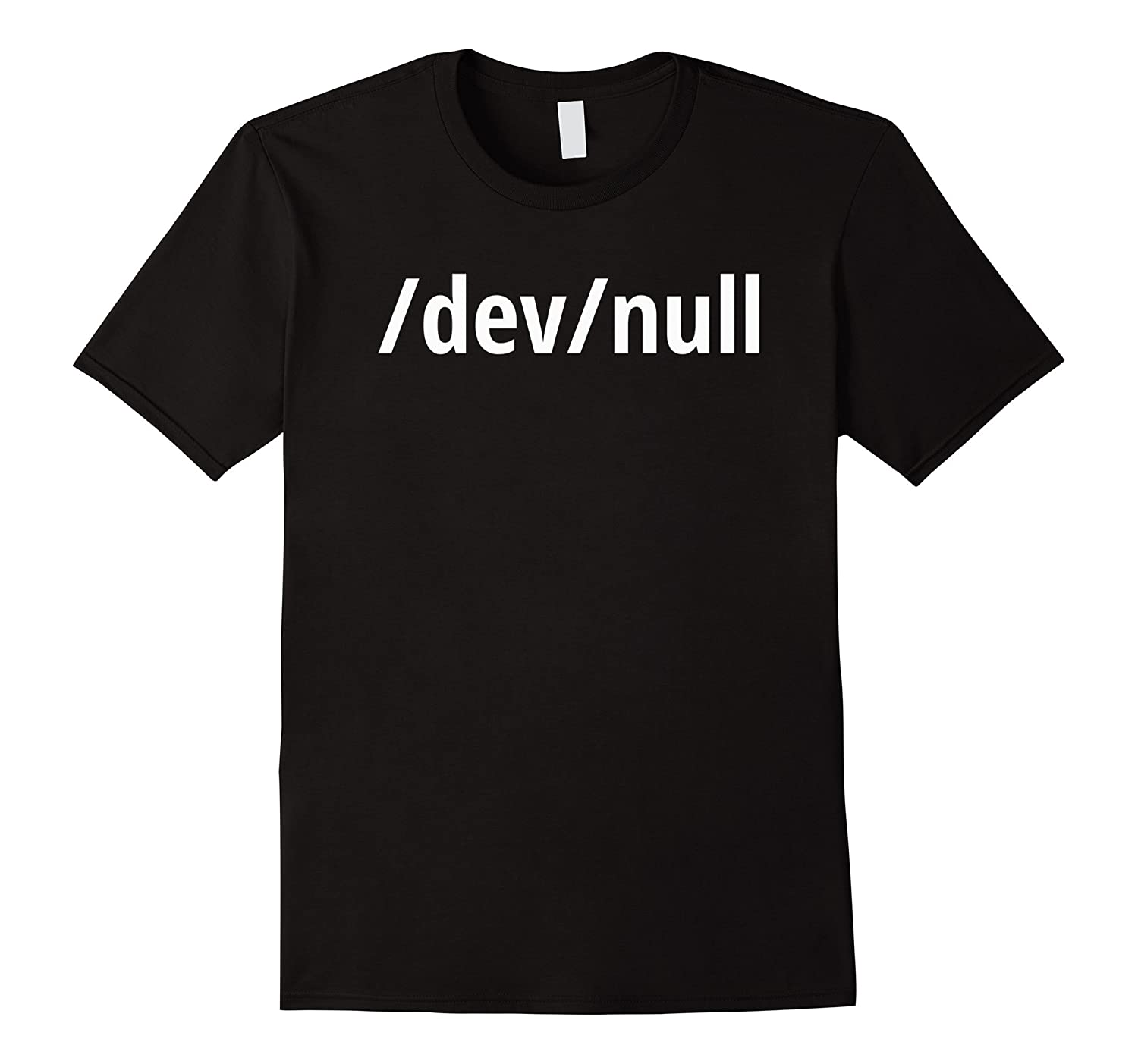 /dev/null - Funny Computer Geek T-Shirt - White Text Design-TH