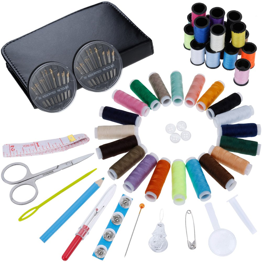 Beginners Sewing Kit Includes 38 Spools of Thread and 1 pack of sewing needles Rovtop Sewing Kit- Over 140 Premium Sewing Supplies Emergency Sewing Kit Practical Mini Travel sewing kit Count 30