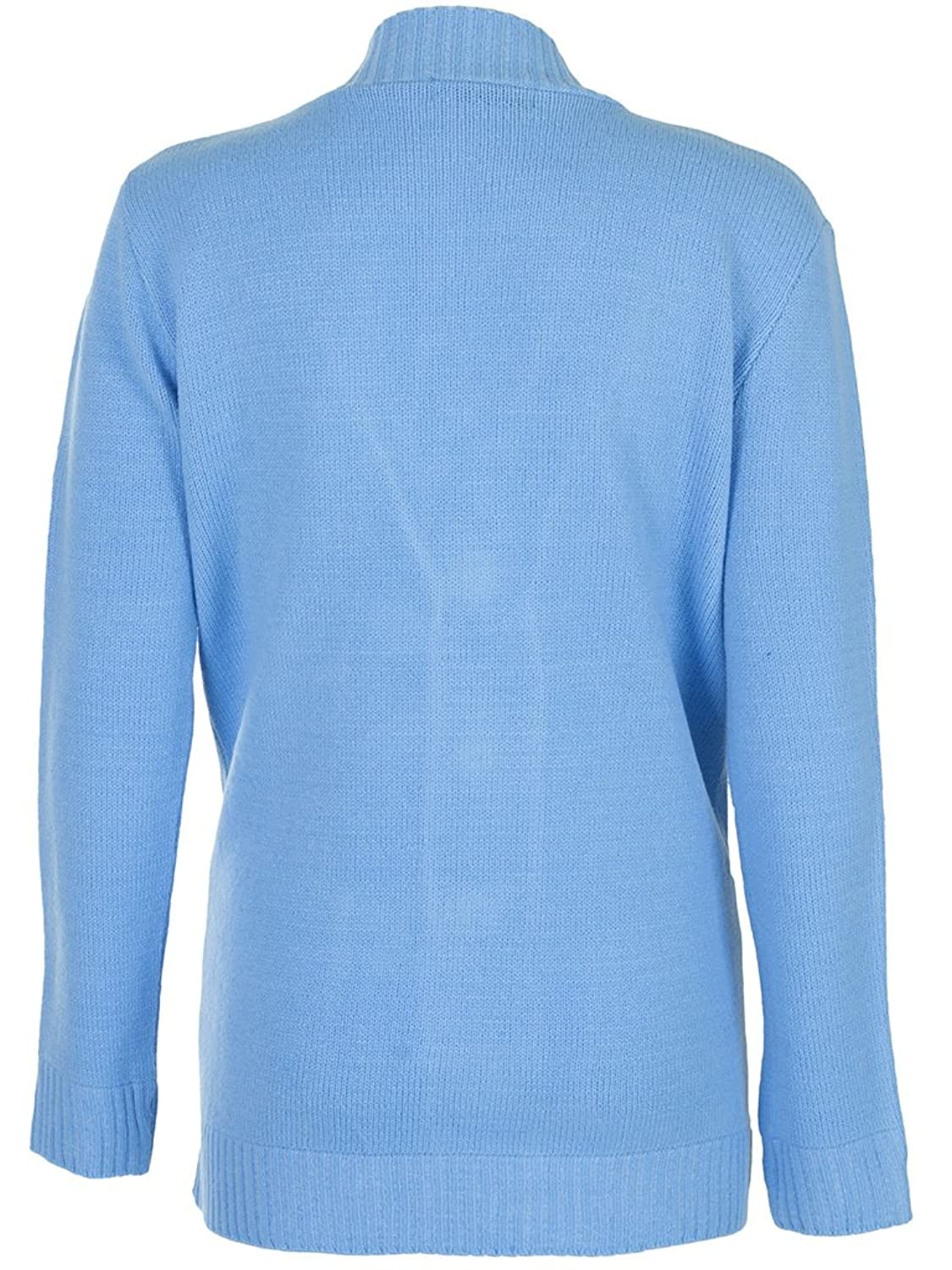 Love My Fashions Women's Womans Cable Knit Cardigan Medium / Large Sky Blue