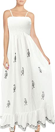 LA LEELA Women\'s Plus Size Summer Casual Tube Dress Beach Cover Up Hand Tie  Dye