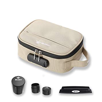 Mart NS Smell Proof Bag with 2 Stash Container and Rolling Machine | Air and Water