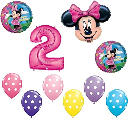 Amazon.com: Minnie mouse # 2 2 nd segundo Happy globo de ...
