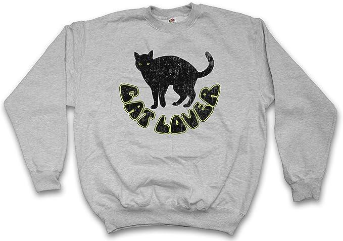 Cat Lover Sudadera para Hombre Sweatshirt Pullover – Gato Gatos Pata protección de los Animales Kitty