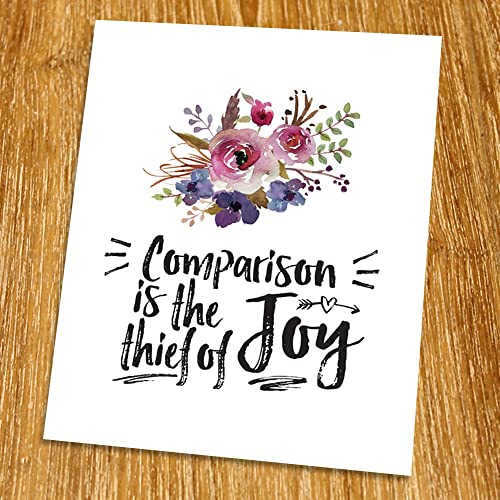 comparison is the thief of happiness