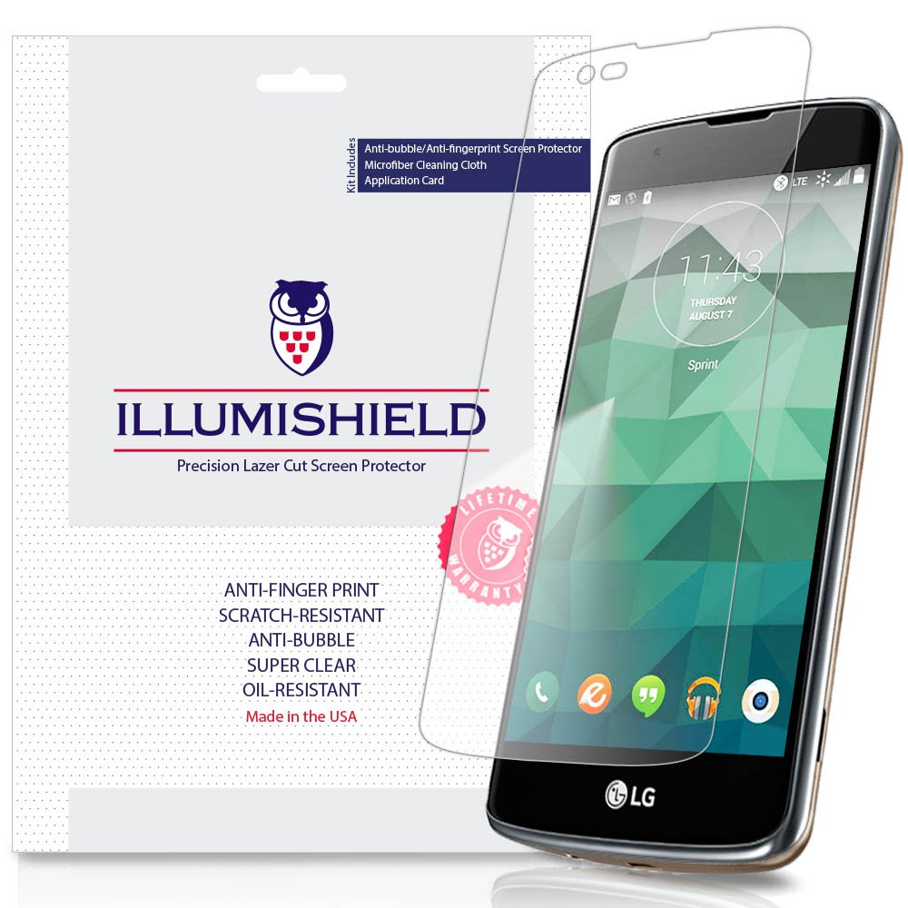 iLLumiShield Screen Protector Compatible with LG K8 (LG Phoenix 2,LG Escape 3)(3-Pack) Clear HD Shield Anti-Bubble and Anti-Fingerprint PET Film