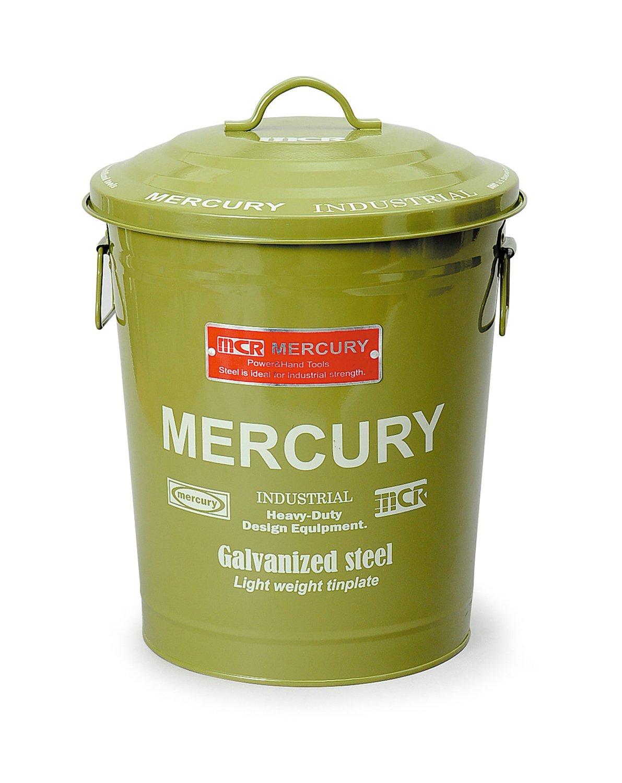キーストーン フタ付きゴミ箱 グリーン 高さ/約41cm, 幅/約30.2cm, 奥行/約30.2cm B01HYY90I2 グリーン グリーン