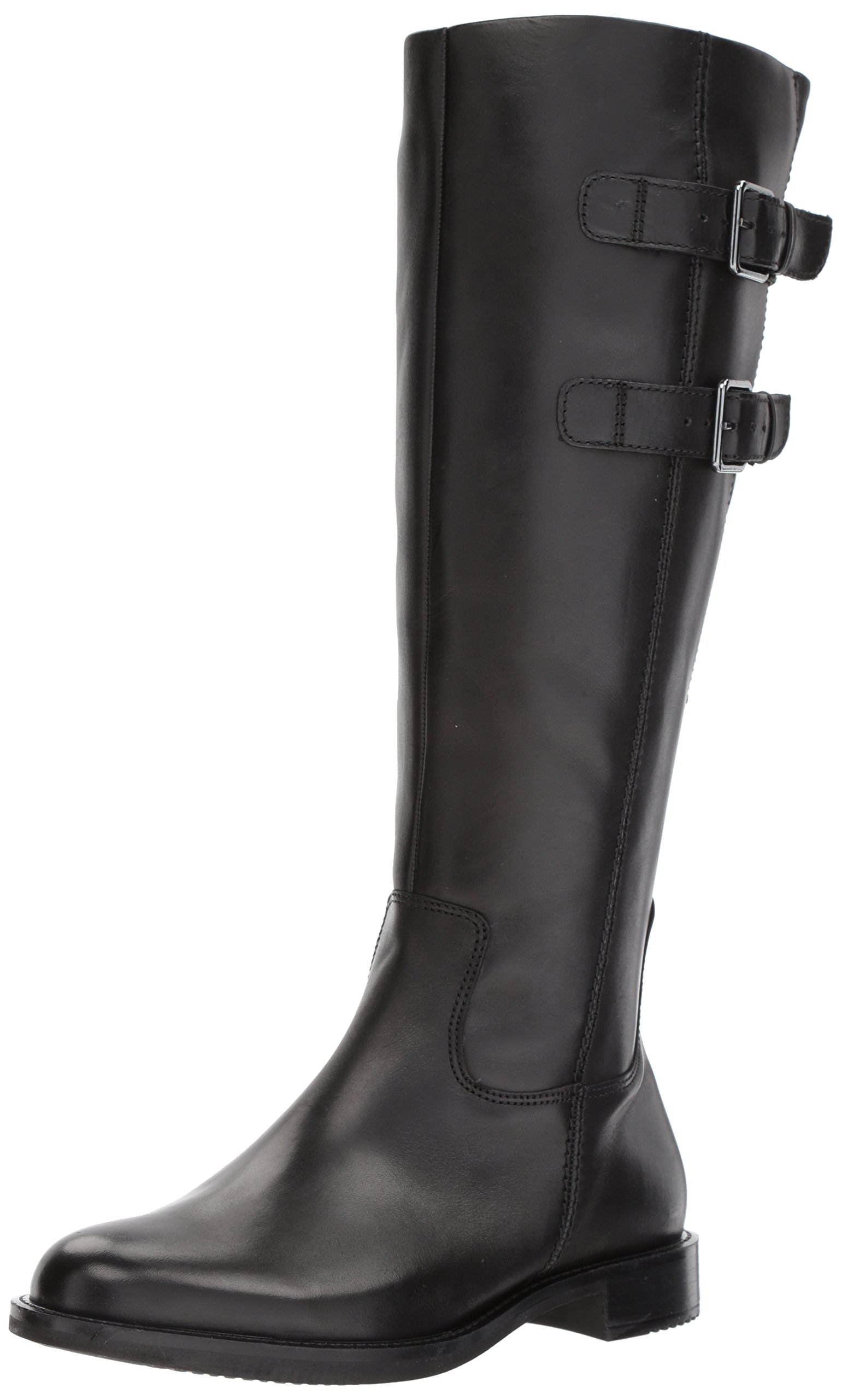 ECCO Women's Shape 25 Tall Buckle Riding Boot,Black,37 EU/6-6.5 M US