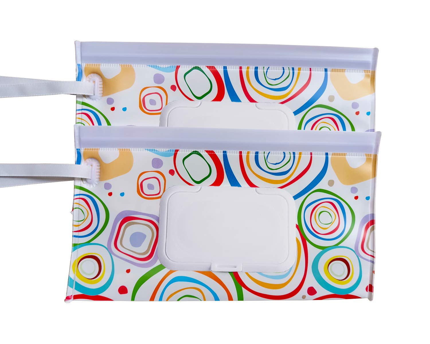 Eco Friendly Wipe Pouches Great for Travel 2 pack B#-03 Reusable Wet Wipe Pouch Dispenser for Baby or Personal Wipes