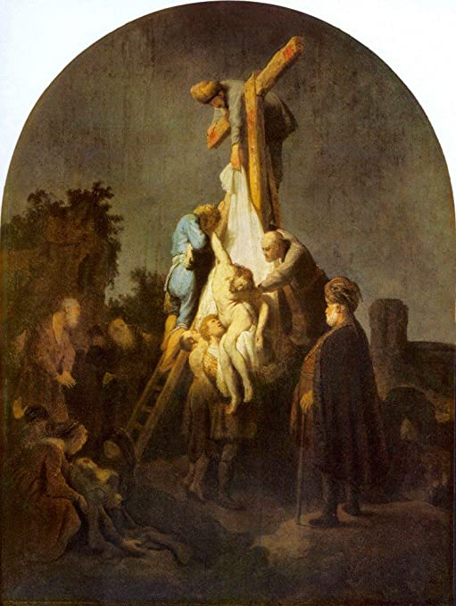 Amazon.com: The Museum Outlet - Crucifixion By Rembrandt - Poster