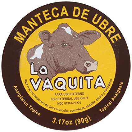 Manteca De Ubre La Vaquita 3.17 Oz. Topical Analgesic by La Vaquita