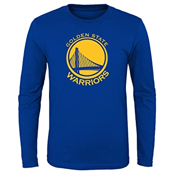 """bf9fc09397a Golden State Warriors Youth NBA """"Primary Logo"""" Long Sleeve T-Shirt"""